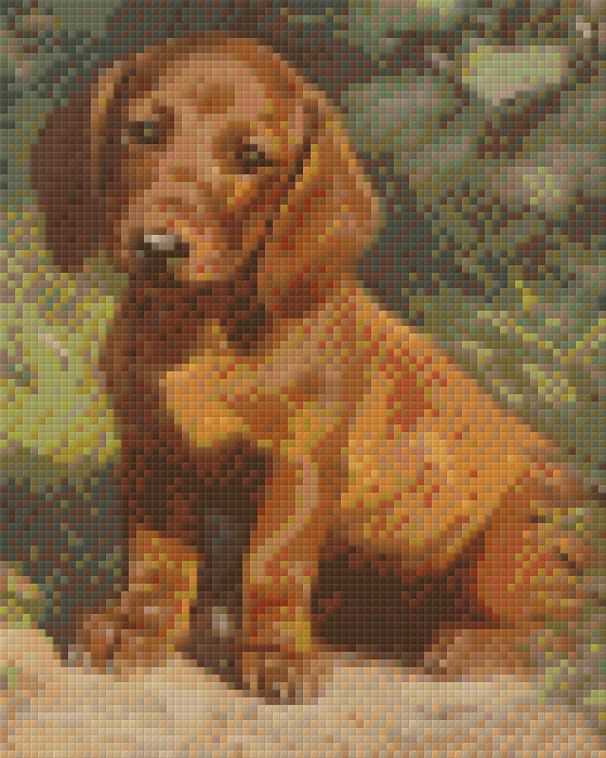 Puppy Four [4] Baseplate PixelHobby Mini-mosaic Art Kits image 0