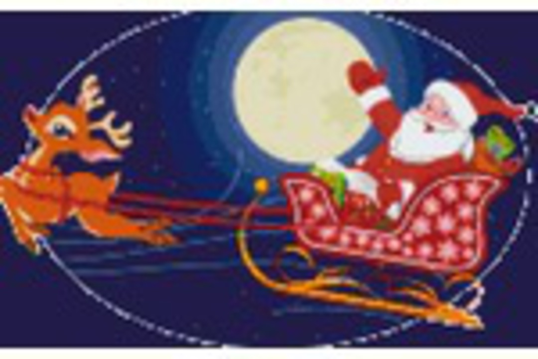 Santa In His Sleigh Eight [8] Baseplate PixelHobby Mini-mosaic Art Kits image 0