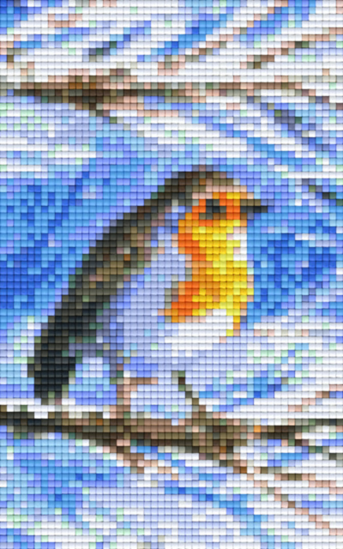 Robin In The Snow Two [2] Baseplate PixelHobby Mini-mosaic Art Kit image 0