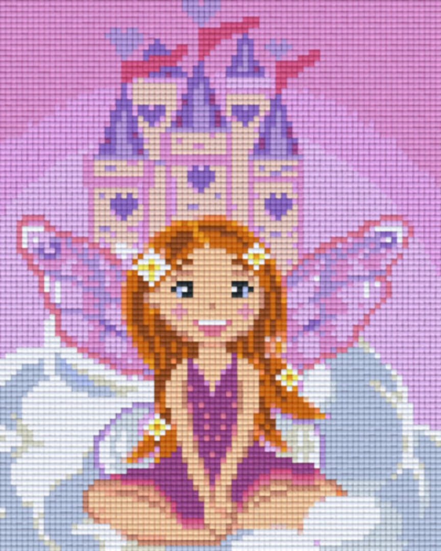 Fairy Castle Four [4] Baseplate PixelHobby Mini-mosaic Art Kits image 0