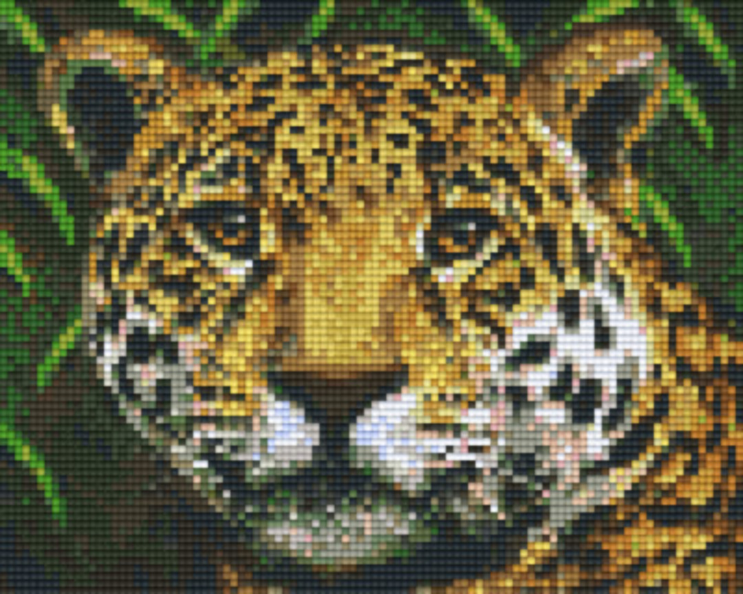 Jaguar Four [4] Baseplate PixelHobby Mini-mosaic Art Kits image 0