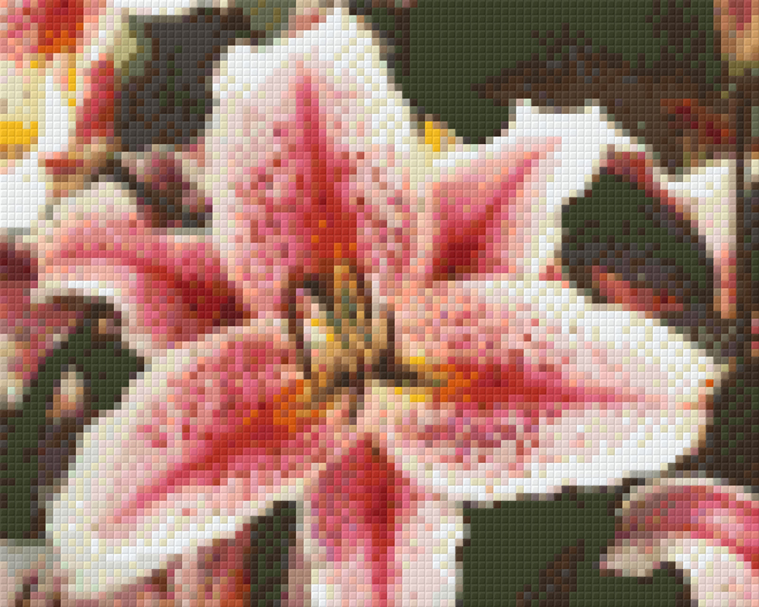 Pink Lilly Four [4] Baseplate PixelHobby Mini-mosaic Art Kits image 0