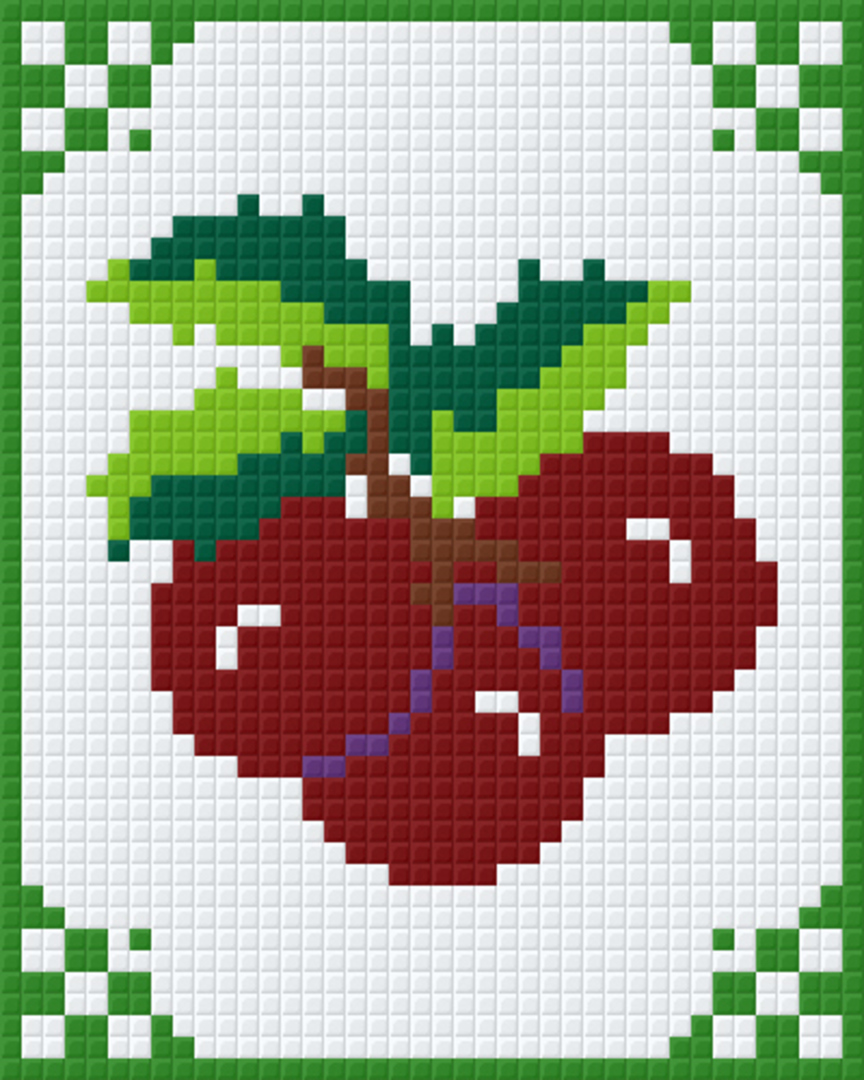 Angies Cherries One [1] Baseplate PixelHobby Mini-mosaic Art Kits image 0