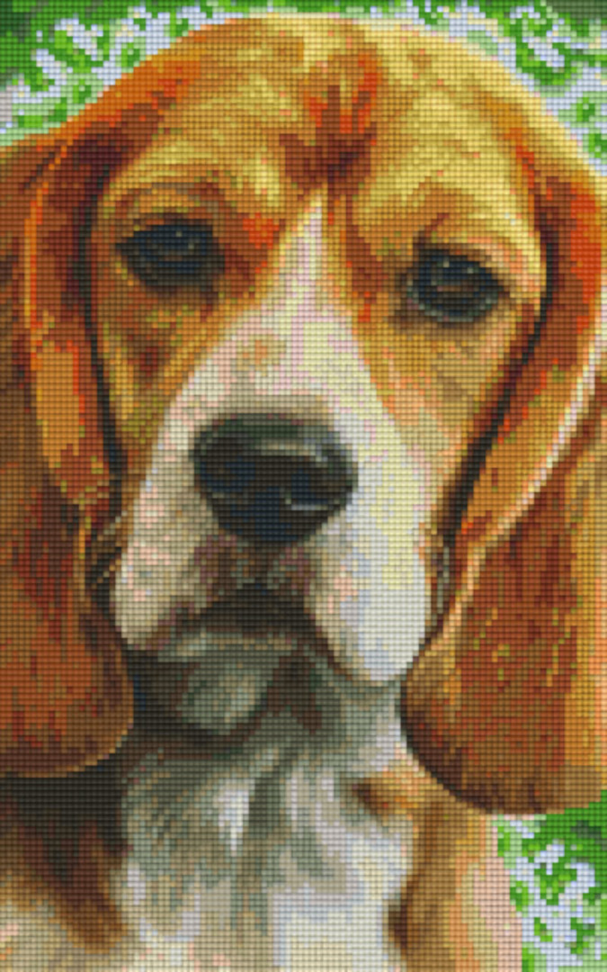 Beagle Eight [8] Baseplate PixelHobby Mini-mosaic Art Kits image 0