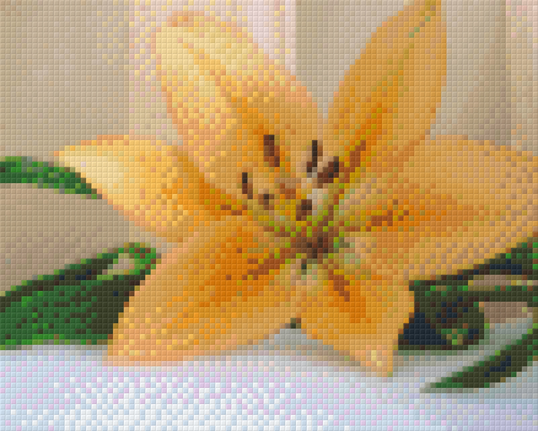 Yellow Lilly Four [4] Baseplate PixelHobby Mini-mosaic Art Kits image 0