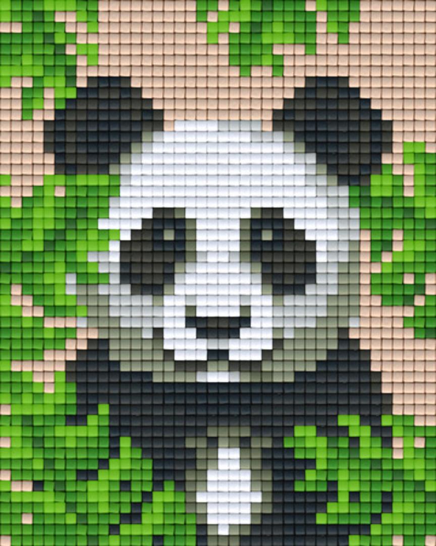 Panda One [1] Baseplate PixelHobby Mini-mosaic Art Kits image 0
