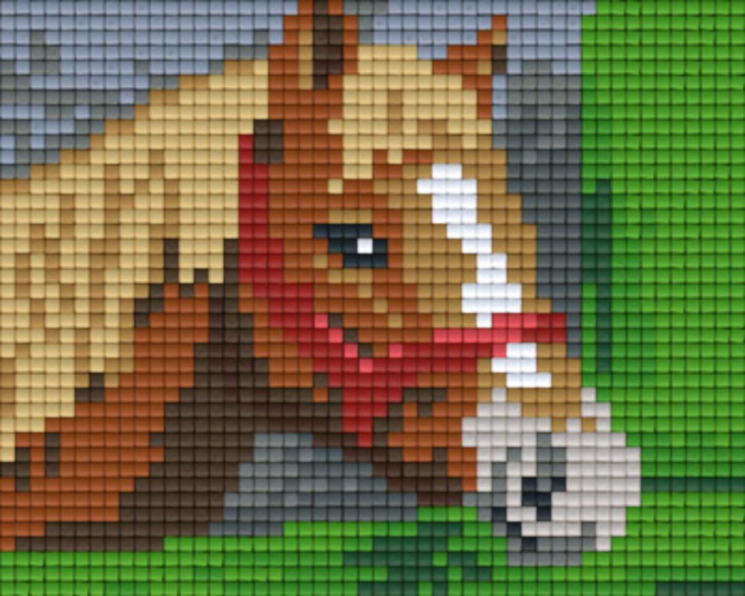 Horse One [1] Baseplate PixelHobby Mini-mosaic Art Kits image 0