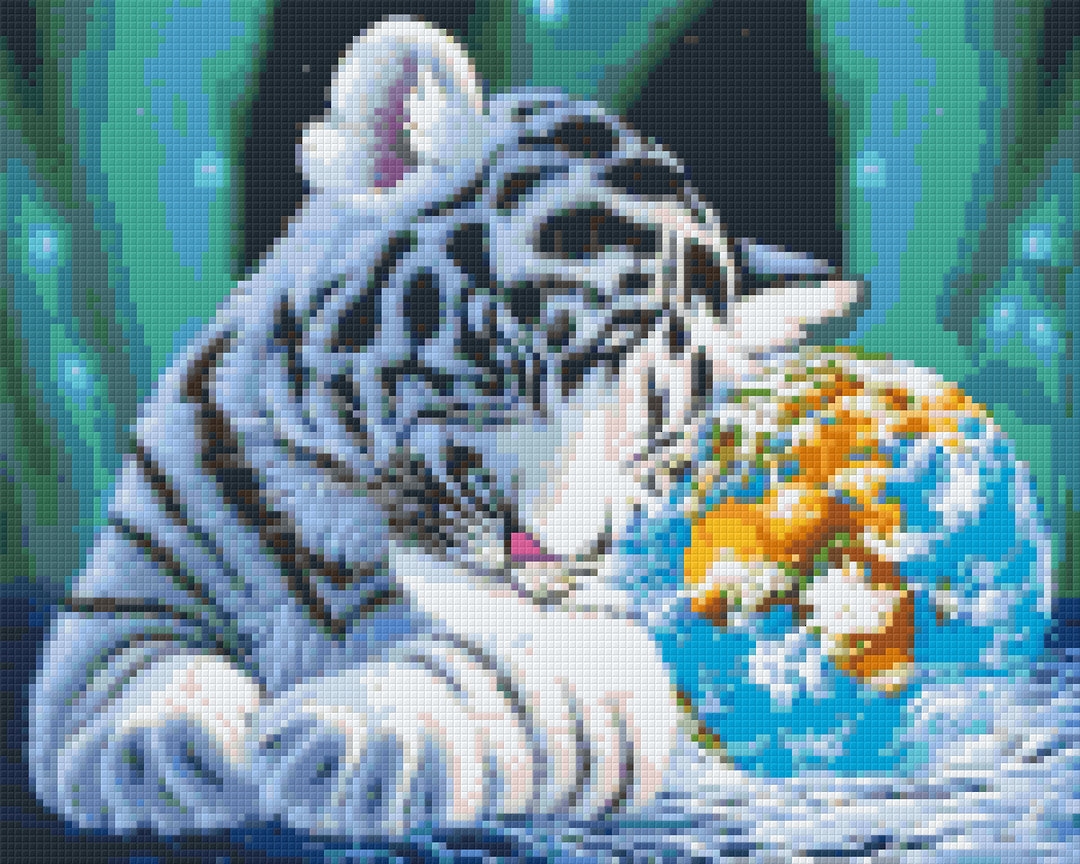 The World On My Shoulder Nine [9] Baseplate PixelHobby Mini-mosaic Art Kits image 0