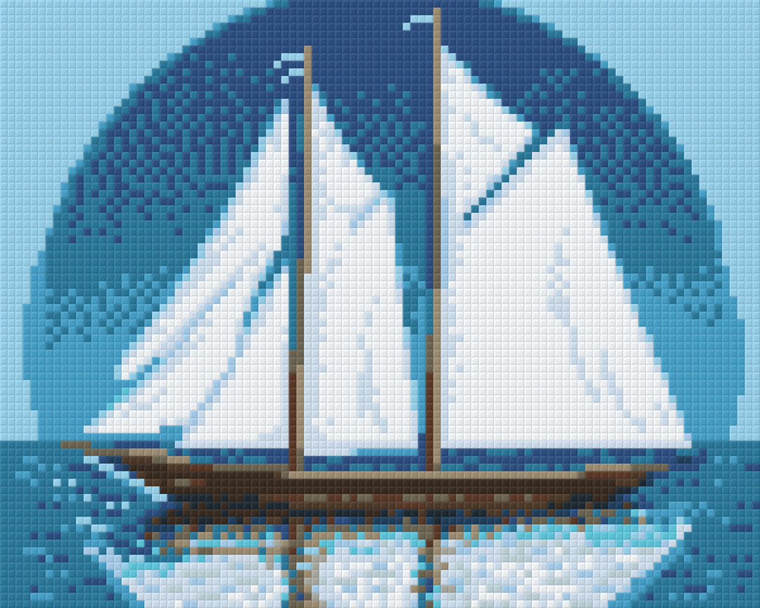 Blue Nose Four [4] Baseplate PixelHobby Mini-mosaic Art Kit image 0