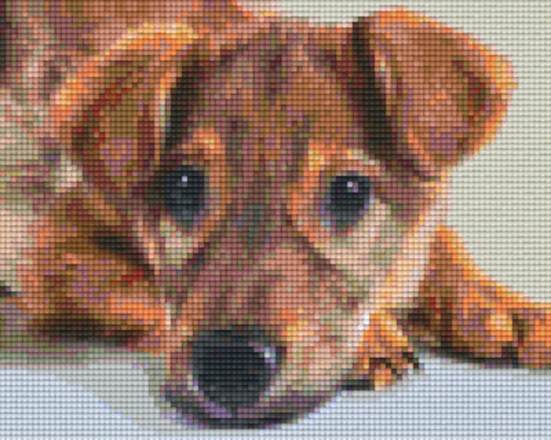 Happy Dog Four [4] Baseplate PixelHobby Mini-mosaic Art Kits image 0