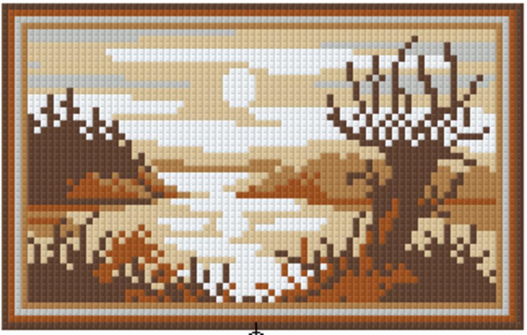 Soft Brown Lake Two [2] Baseplate PixelHobby Mini-mosaic Art Kit image 0