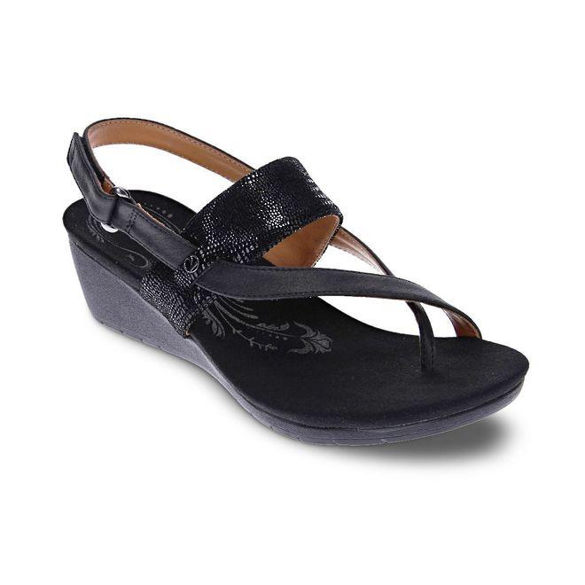 Revere Women's Honolulu Backstrap Wedge Sandal Standard (B) Width image 1