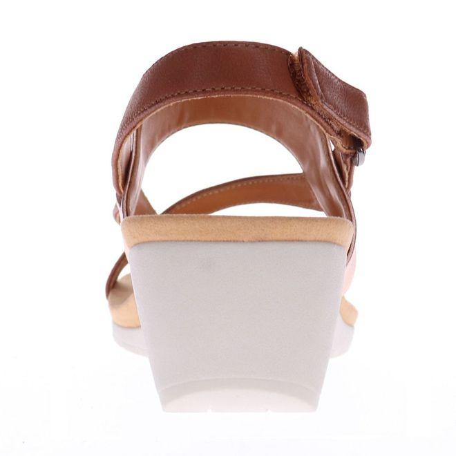 Revere Women's Honolulu Backstrap Wedge Sandal Standard (B) Width image 5