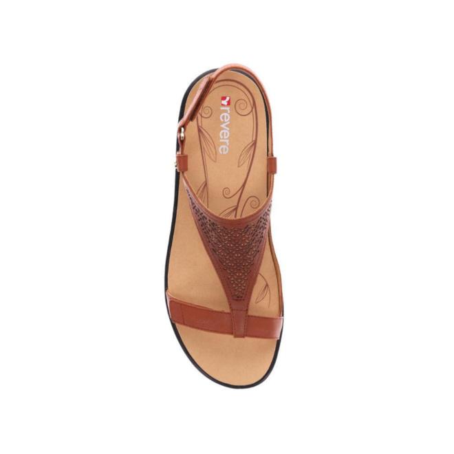 Revere Women's Santa Fe Back Strap Sandal Wide (D) Width image 3