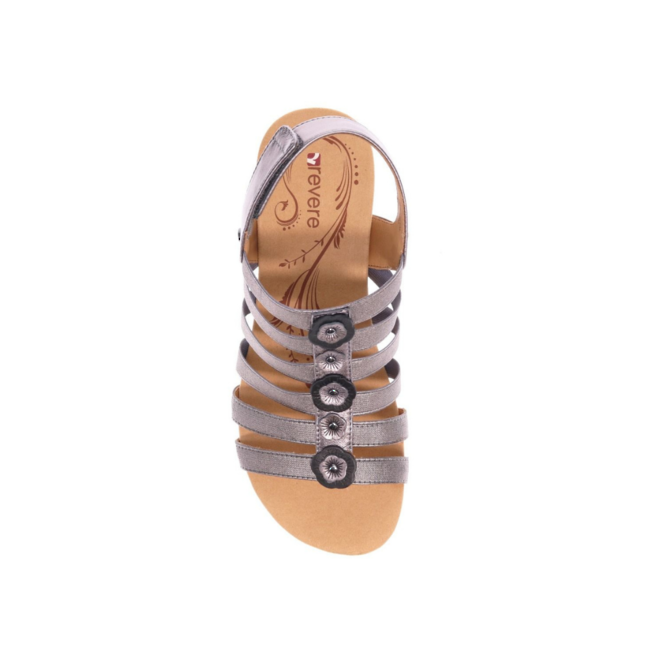 Revere Women's Bari Floral Wedge Sandal Standard (B) Width image 4