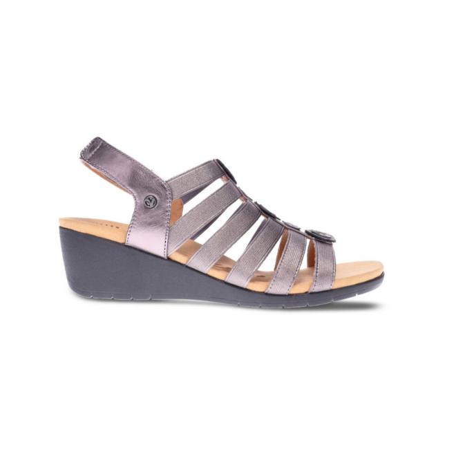 Revere Women's Bari Floral Wedge Sandal Standard (B) Width image 0