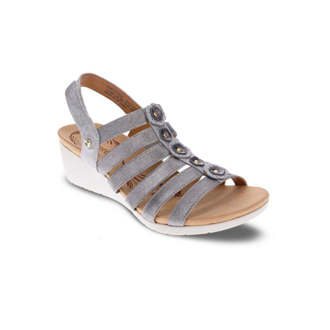 Revere Women's Bari Floral Wedge Sandal Standard (B) Width image 1