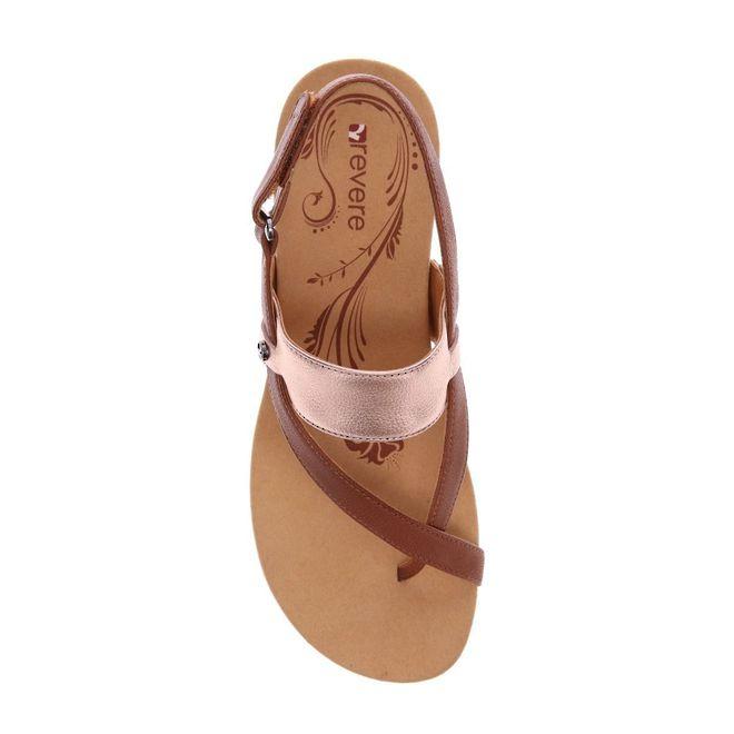 Revere Women's Honolulu Backstrap Wedge Sandal Standard (B) Width image 3