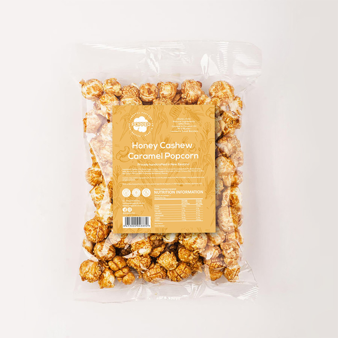 Honey Caramel with Cashew Nuts Popcorn image 0