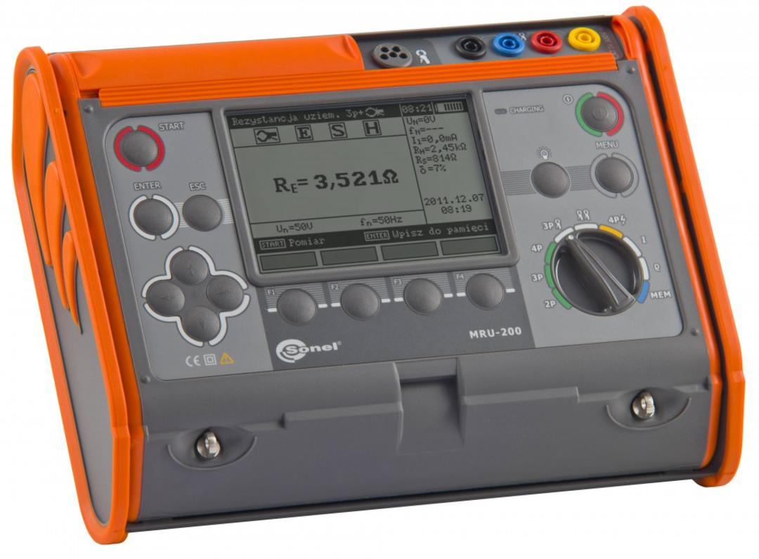 Sonel MRU-200 Earth Resistance and Resistivity Tester - CATIV image 0