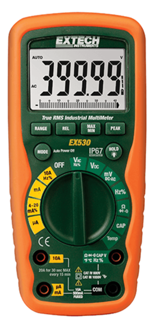 Extech 530 Heavy Duty Industrial Multimeter image 0