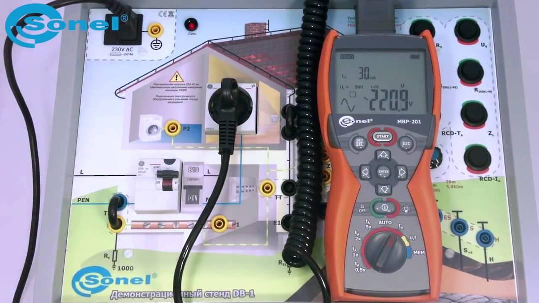Sonel MRP-201 RCD Meter - CATIV image 1