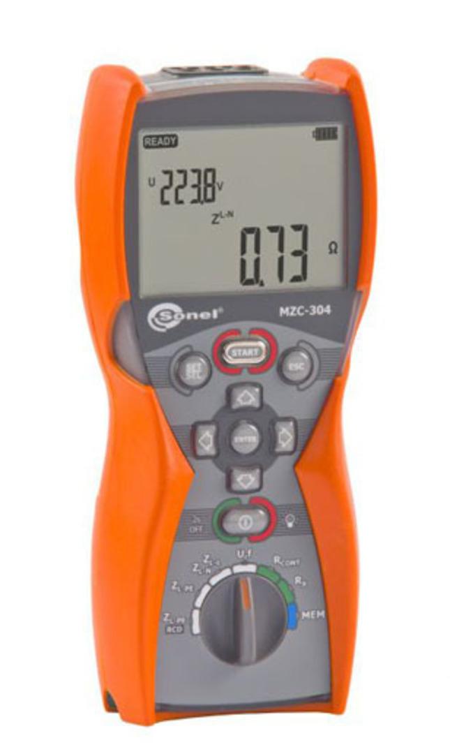 Sonel MZC-304 Loop Impedance Meter - CATIV image 0