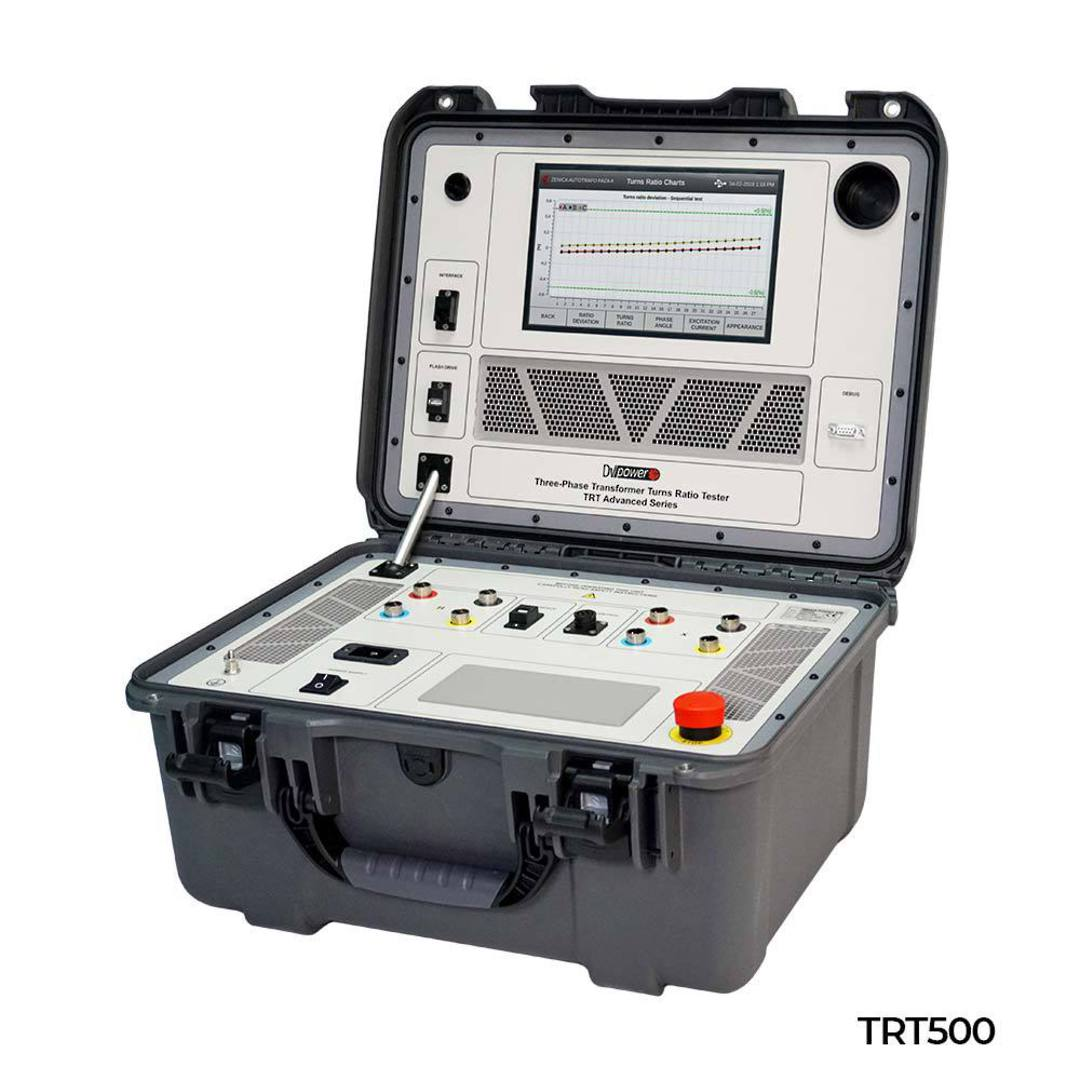 True Three-Phase Transformer Turns Ratio Tester - TRT500, TRT100