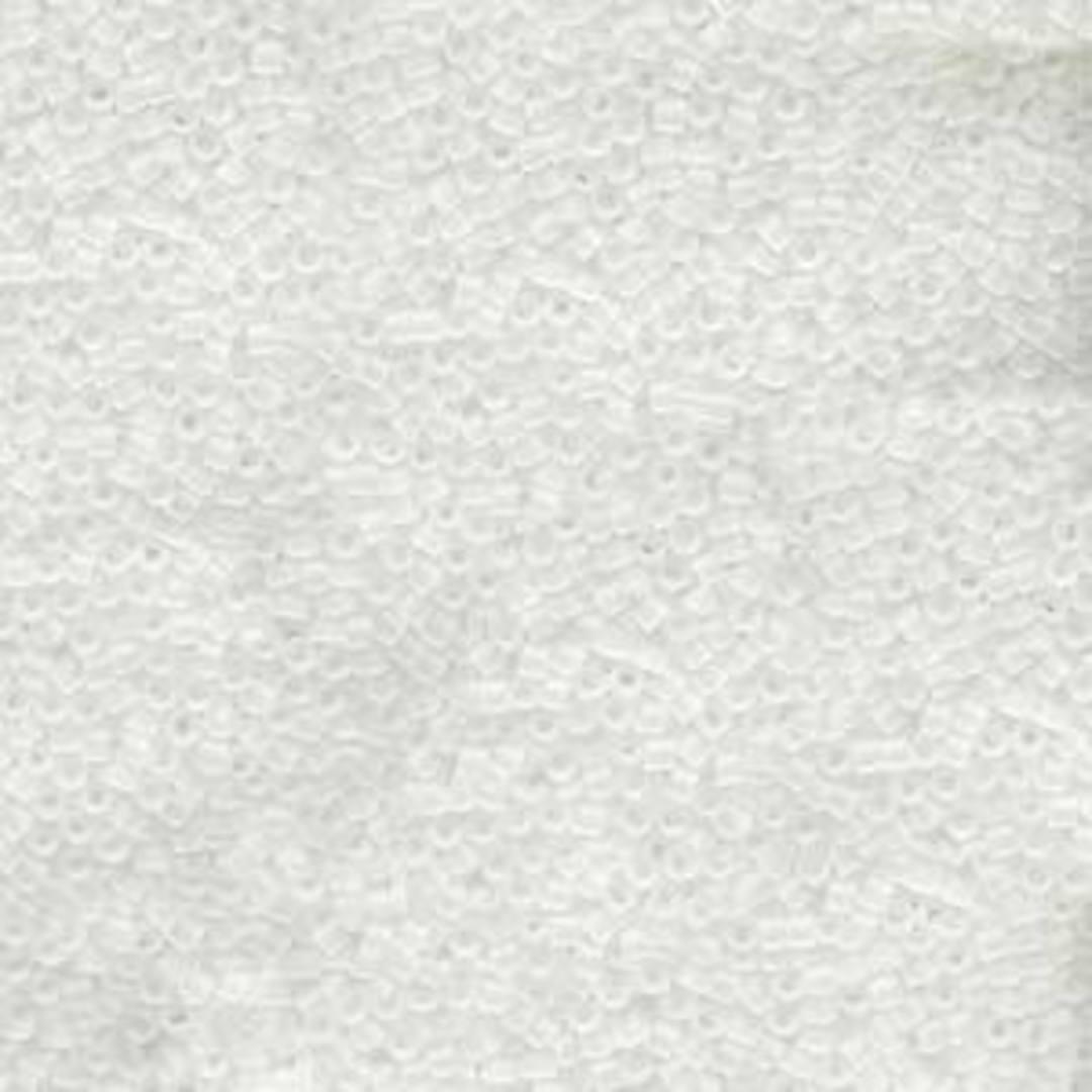 11/0 Miyuki Delica, colour 741 - Matte Transparent Crystal image 0