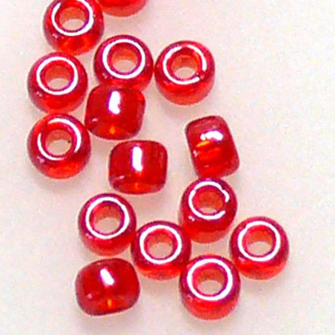 Matsuno size 11 round: 166 - Red Shimmer, transparent image 0