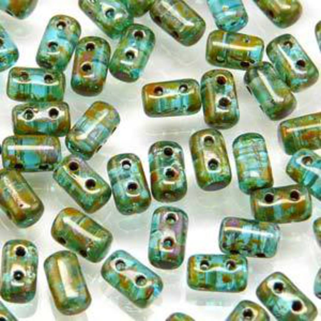 Rulla Bead: Dark Aqua Travertin image 0