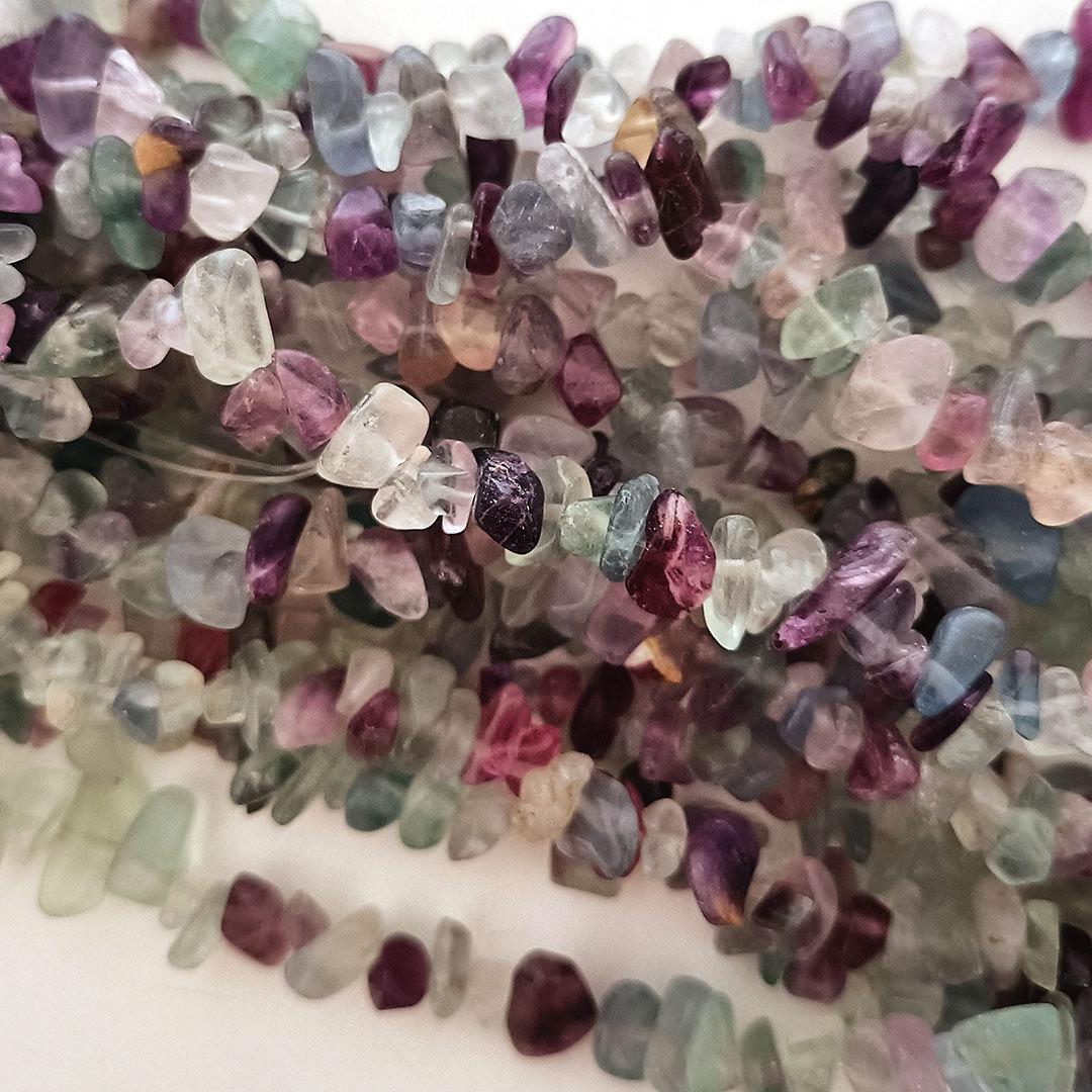 Rainbow Fluorite chips: 42cm strand image 0