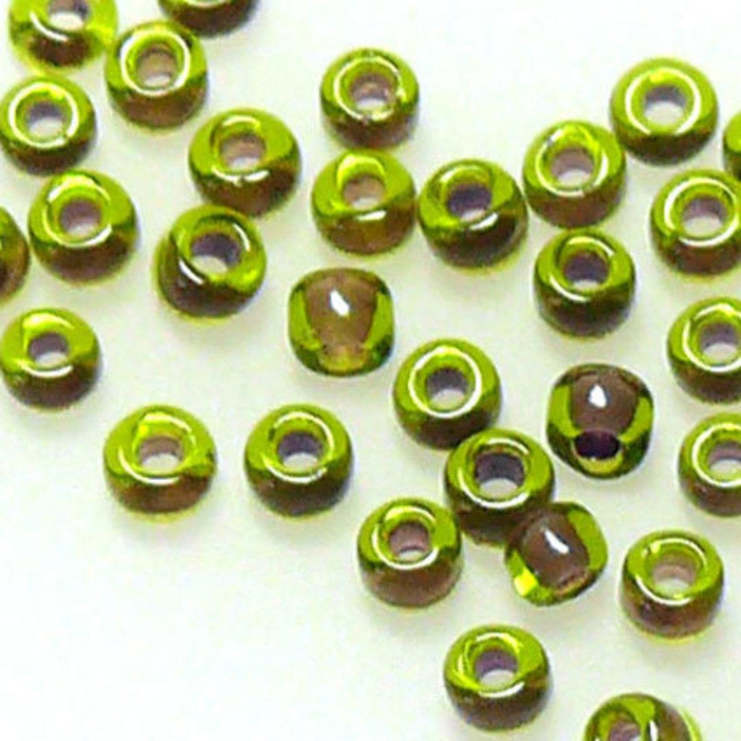 Matsuno size 11 round: 399Y - Dark Olive, purple llined image 0
