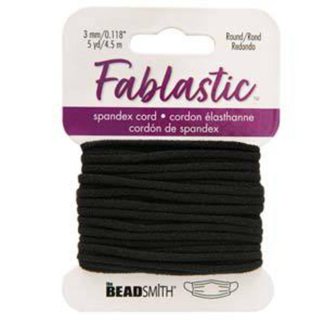 Fablastic round stretch cord: 3mm, black image 1