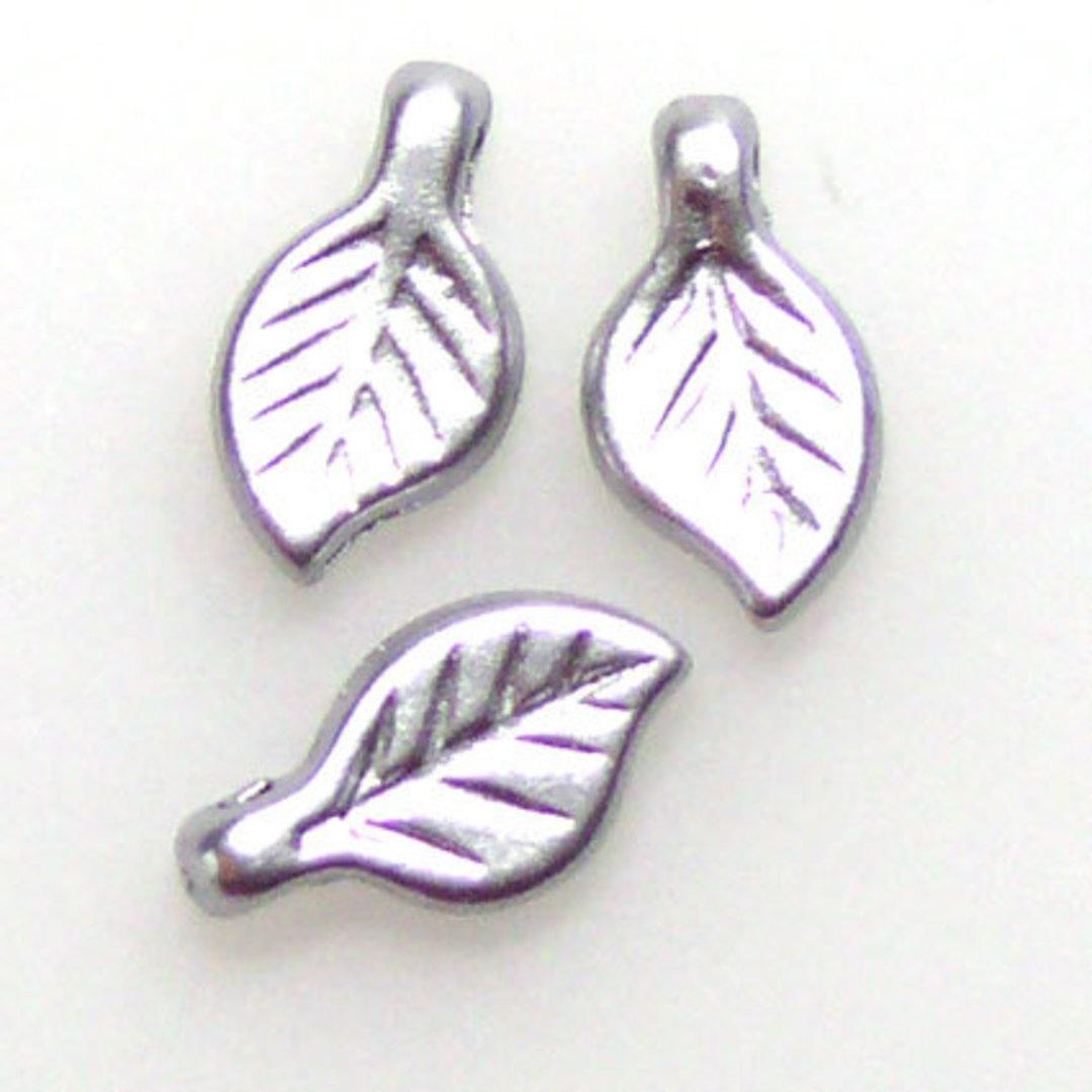 Acrylic Leaf, 5mm x 9mm - Silver grey image 0