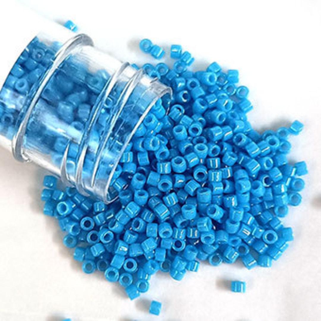 NEW! 11/0 Miyuki Delica, colour 659 - Dyed Opaque Capri Blue image 0