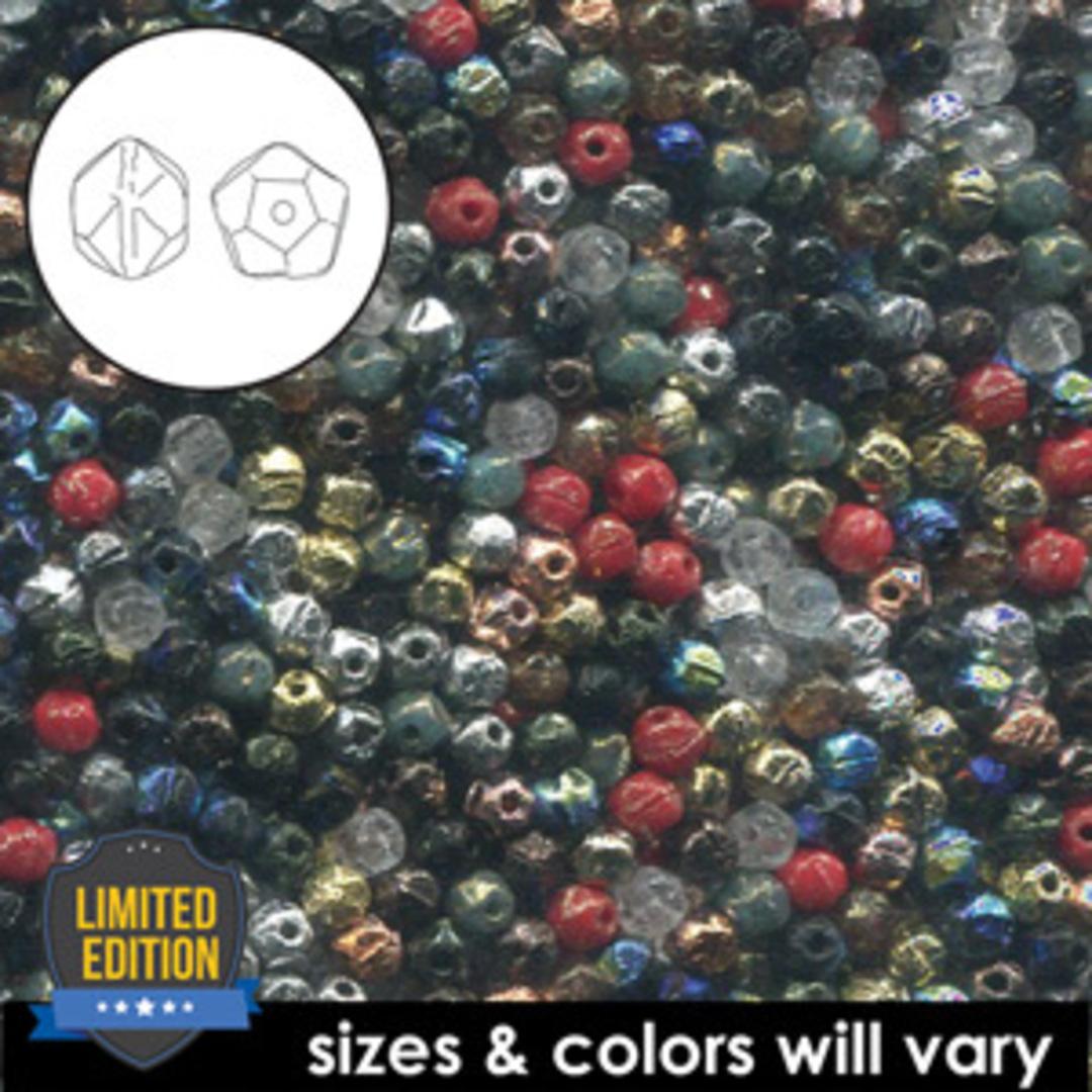NEW! 3mm English Cut Glass Facet Mix: Metals image 1