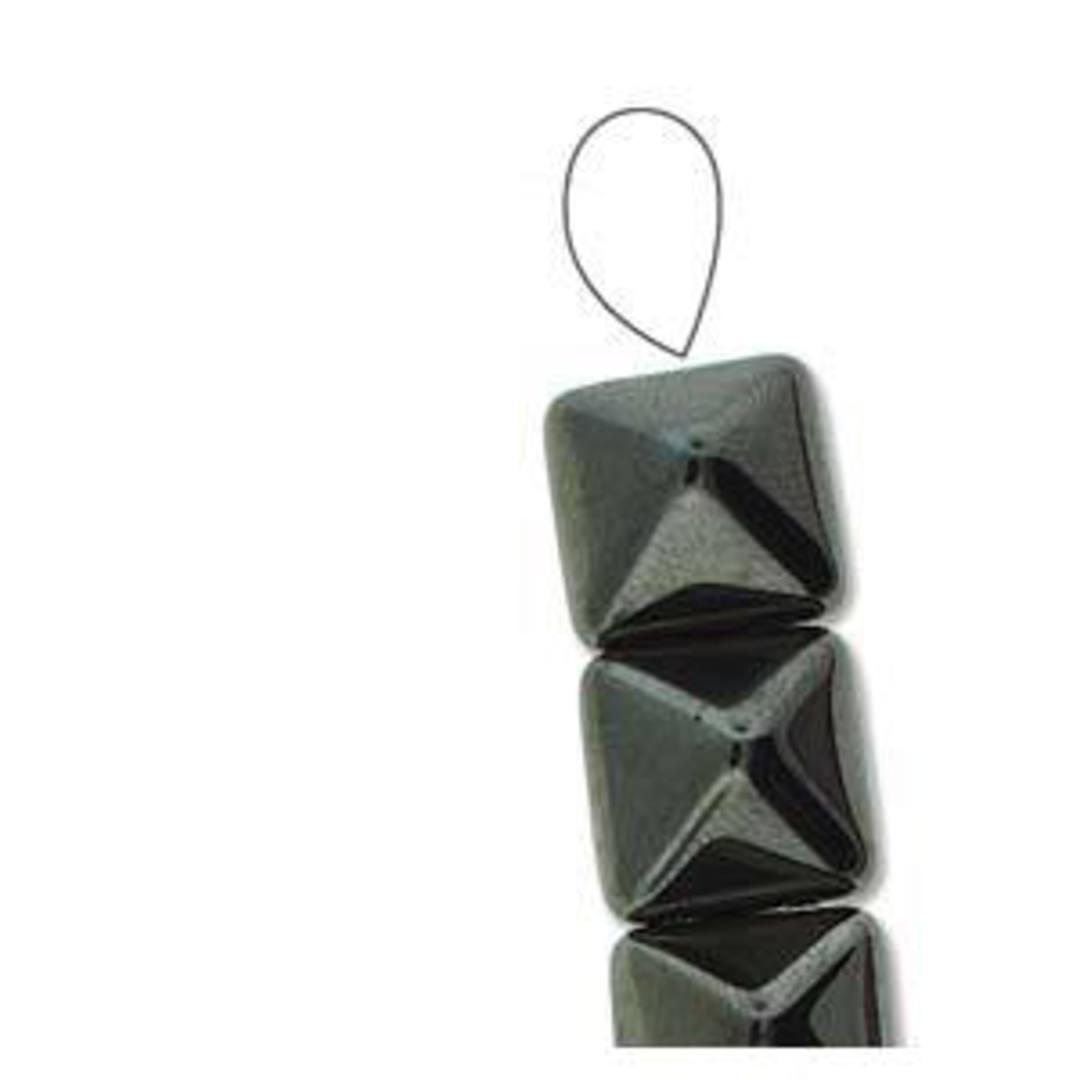 Pyramid Stud: 12mm - Jet Full Chrome image 2