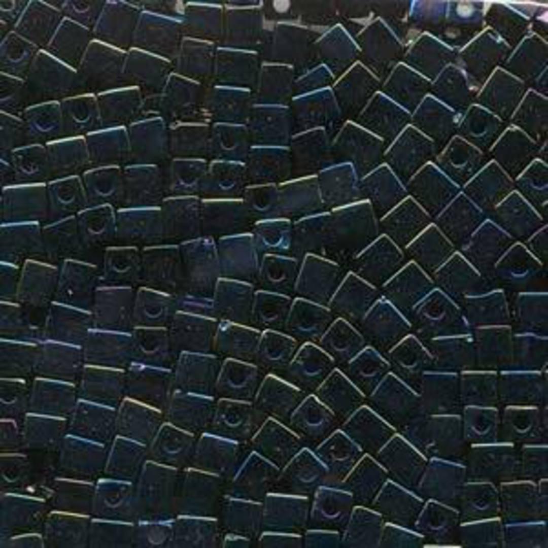 4mm Miyuki Square: 452 - Metallic Blue Iris image 0