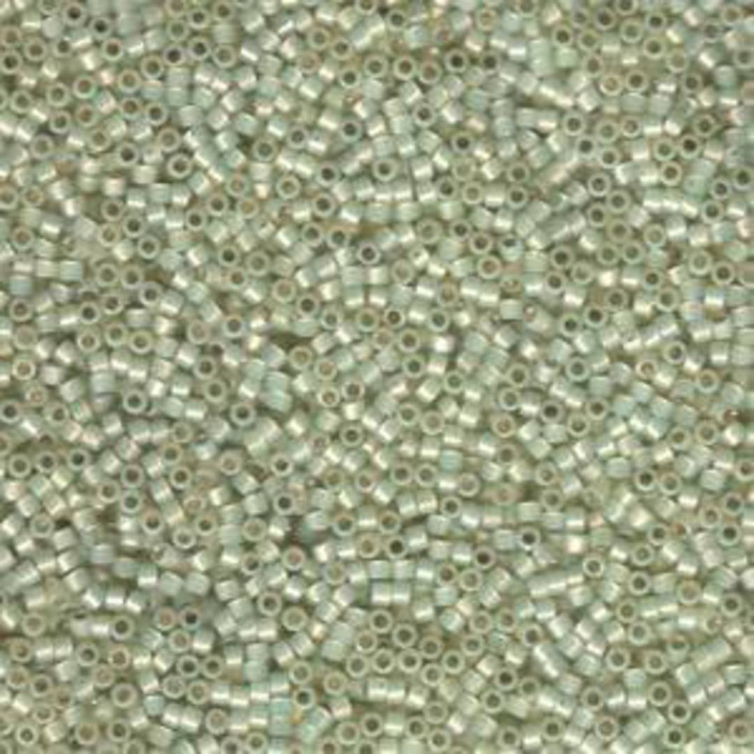 Delica, colour 1453 - Pale Lime Opal silver lined image 1