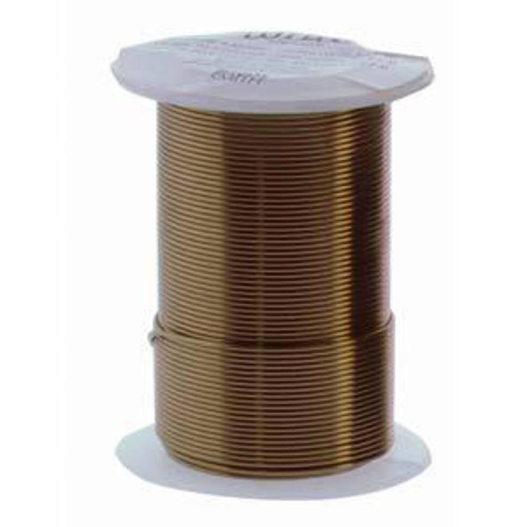 NEW!  Beadsmith Craft Wire, Vintage Bronze Colour: 18 gauge image 0