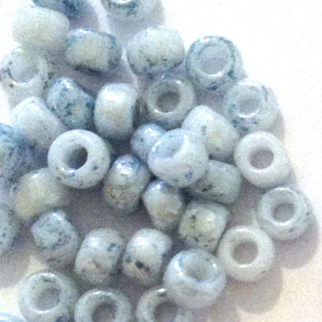 Toho size 8 round: 1205 - Pale Plue, speckled image 1