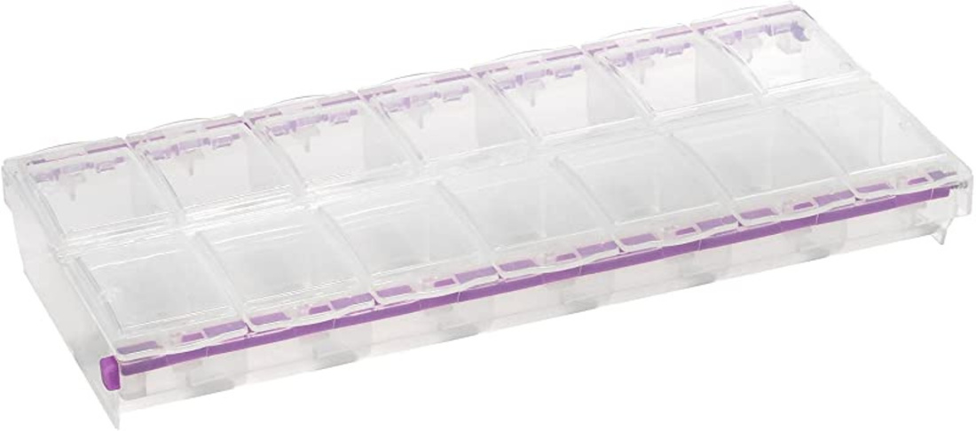 CraftMates EZ LOCK 14 compartment storage case image 2