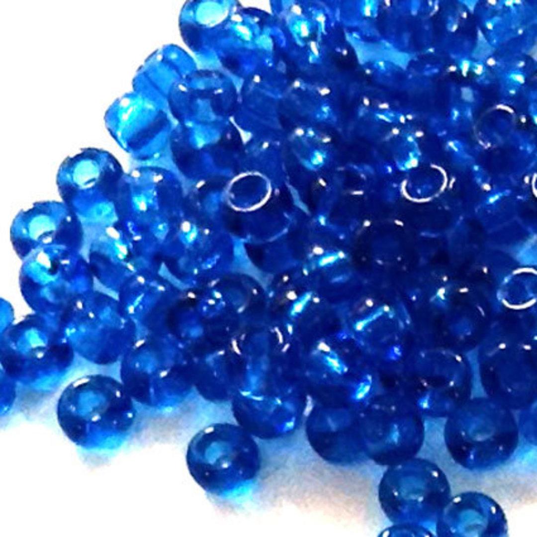 Miyuki size 11 round: 149 - Deep Aqua Blue, transparent image 0
