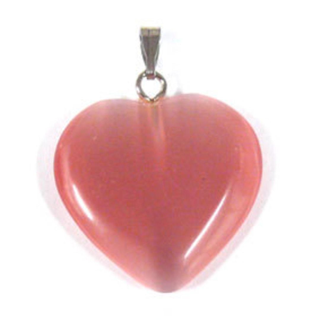22mm Fibre Optic Heart: Pink image 0
