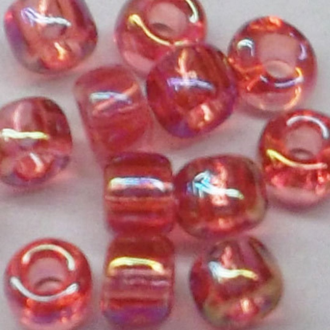 Matsuno size 8 round: 256E - Rose Pink AB, transparent image 1