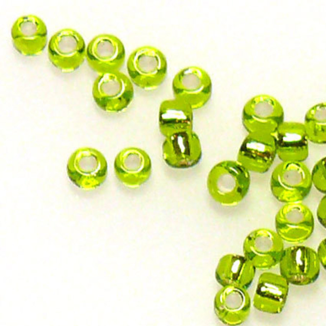 Matsuno size 11 round: 14 - Lime, silver lined image 0