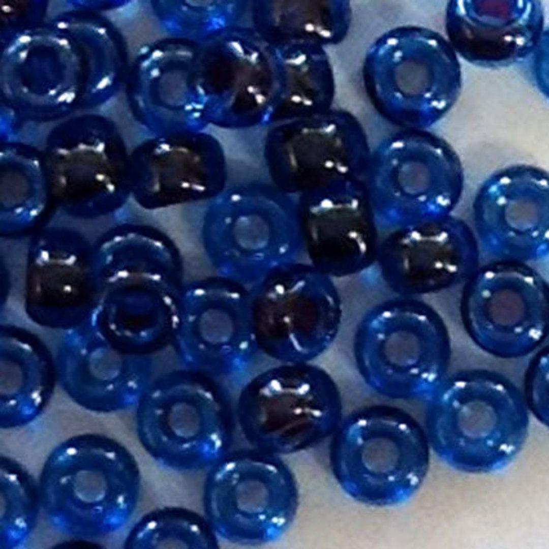 Miyuki size 11 round: 358 - Capri Blue/Grey, colour lined image 0