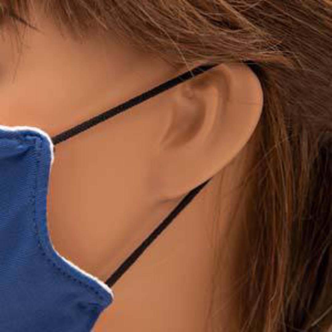 Fablastic round stretch cord: 3mm, black image 2