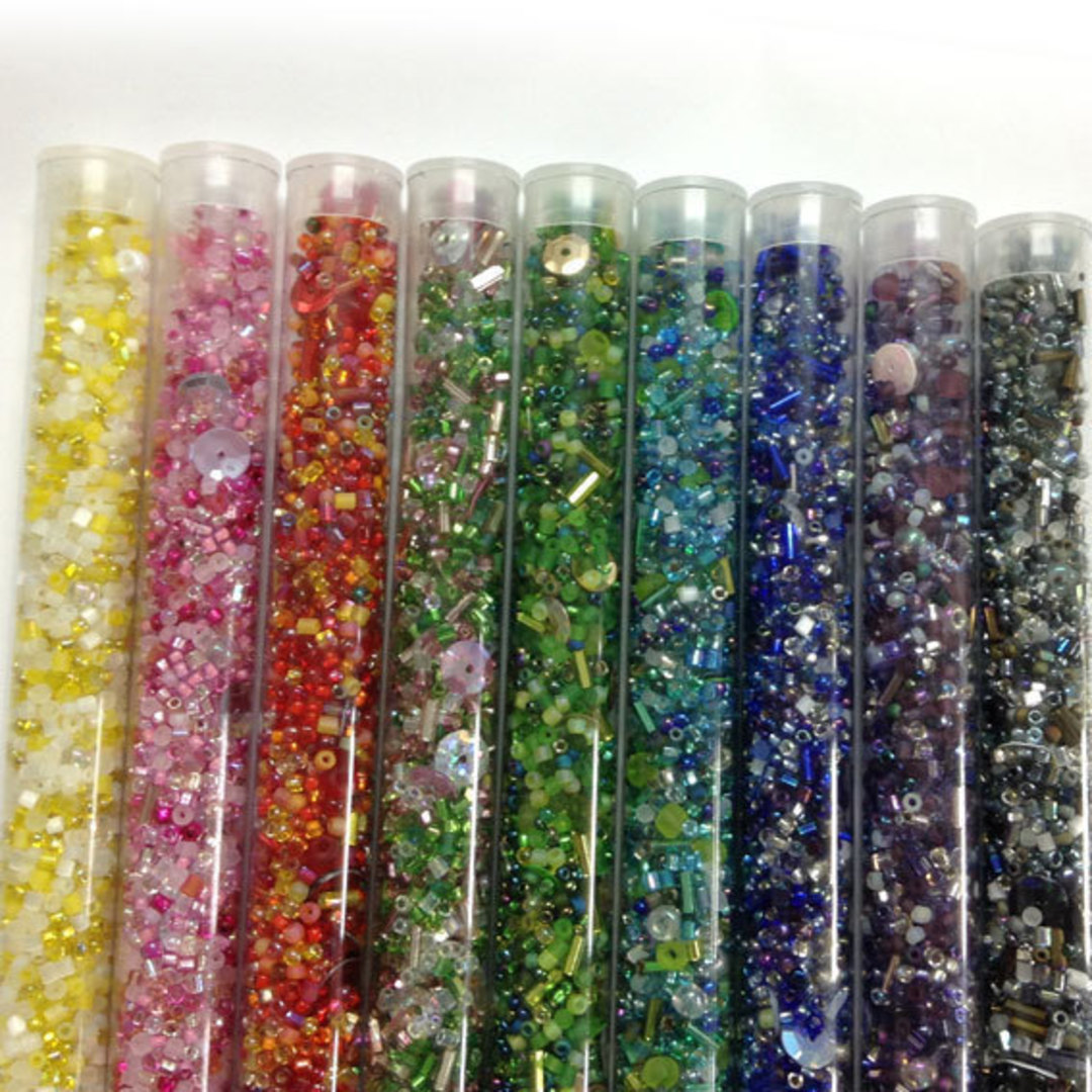 Seed Bead Super Mix - 9 tubes, save 33% image 1